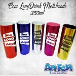 Long Drink Pink Metalizado Personalizado - (Caixa c/100 unidades)