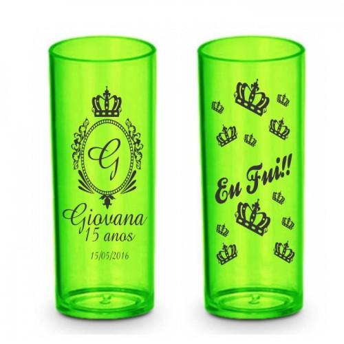 Long Drink Verde Neon Personalizado - (Caixa c/100 unidades)