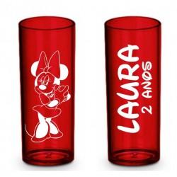 Long Drink Vermelho Translucido Personalizado - (Caixa c/100 unidades)