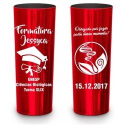 Long Drink Vermelho Metalizado Personalizado - (Caixa c/100 unidades)