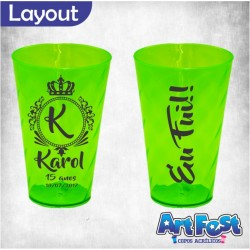 Copo Twister 550 ml Personalizado - Verde Neon