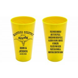 Copo Twister 550 ml Personalizado - Amarelo Solido